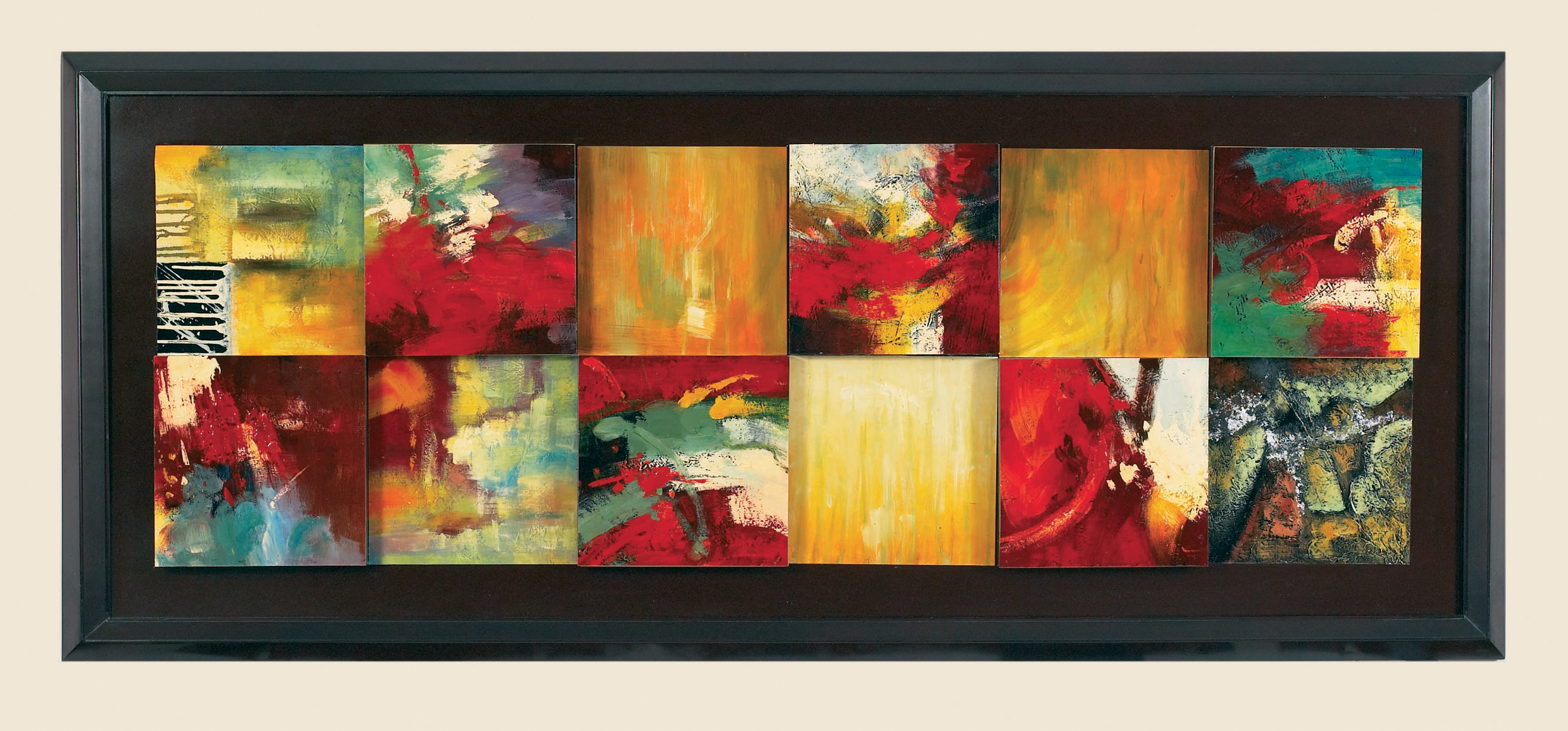 Thoroughly Modern Red Abstract- Canvas Frame by Bassett Mirror at Alison Craig Home Furnishings