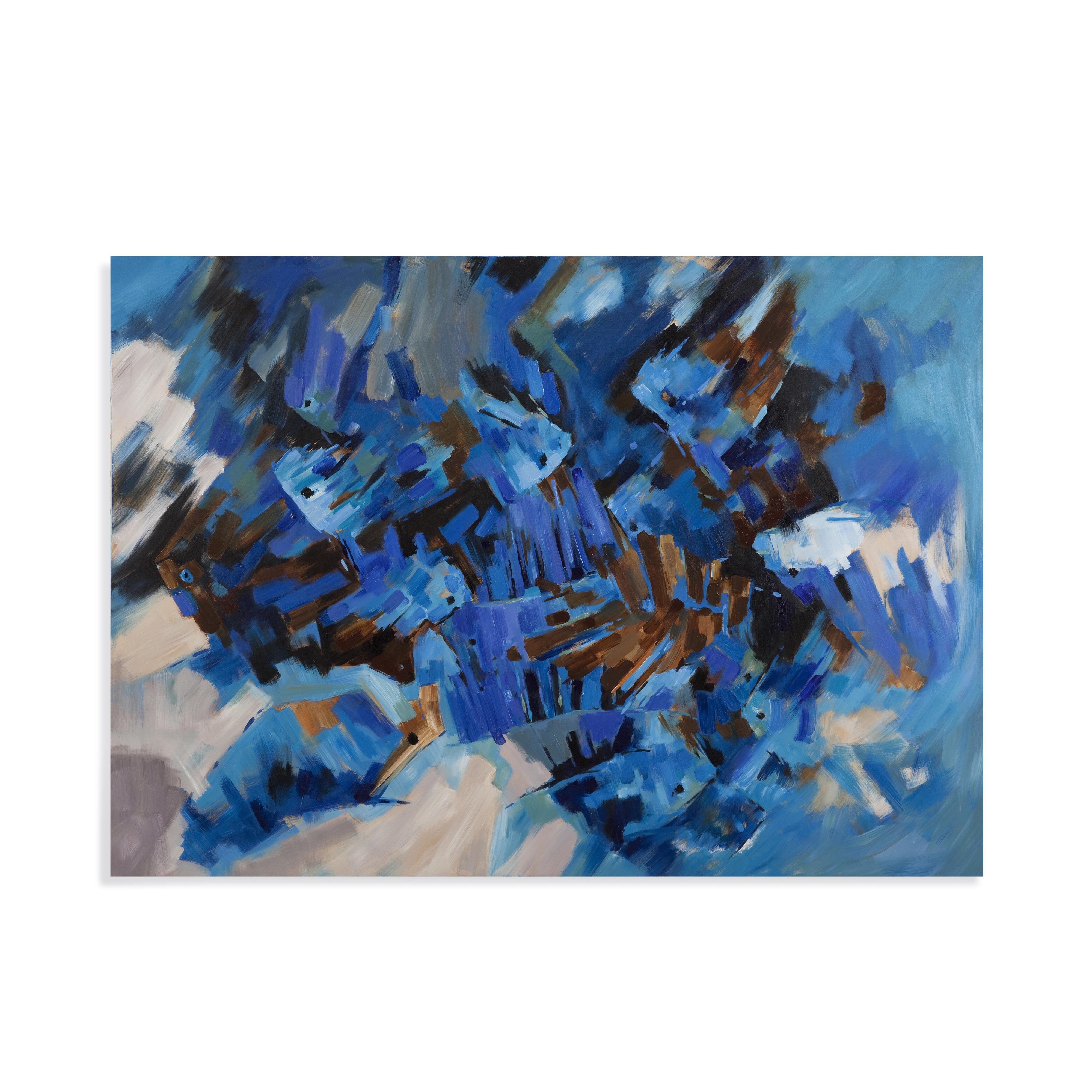 Thoroughly Modern Brilliant Blue by Bassett Mirror at Alison Craig Home Furnishings