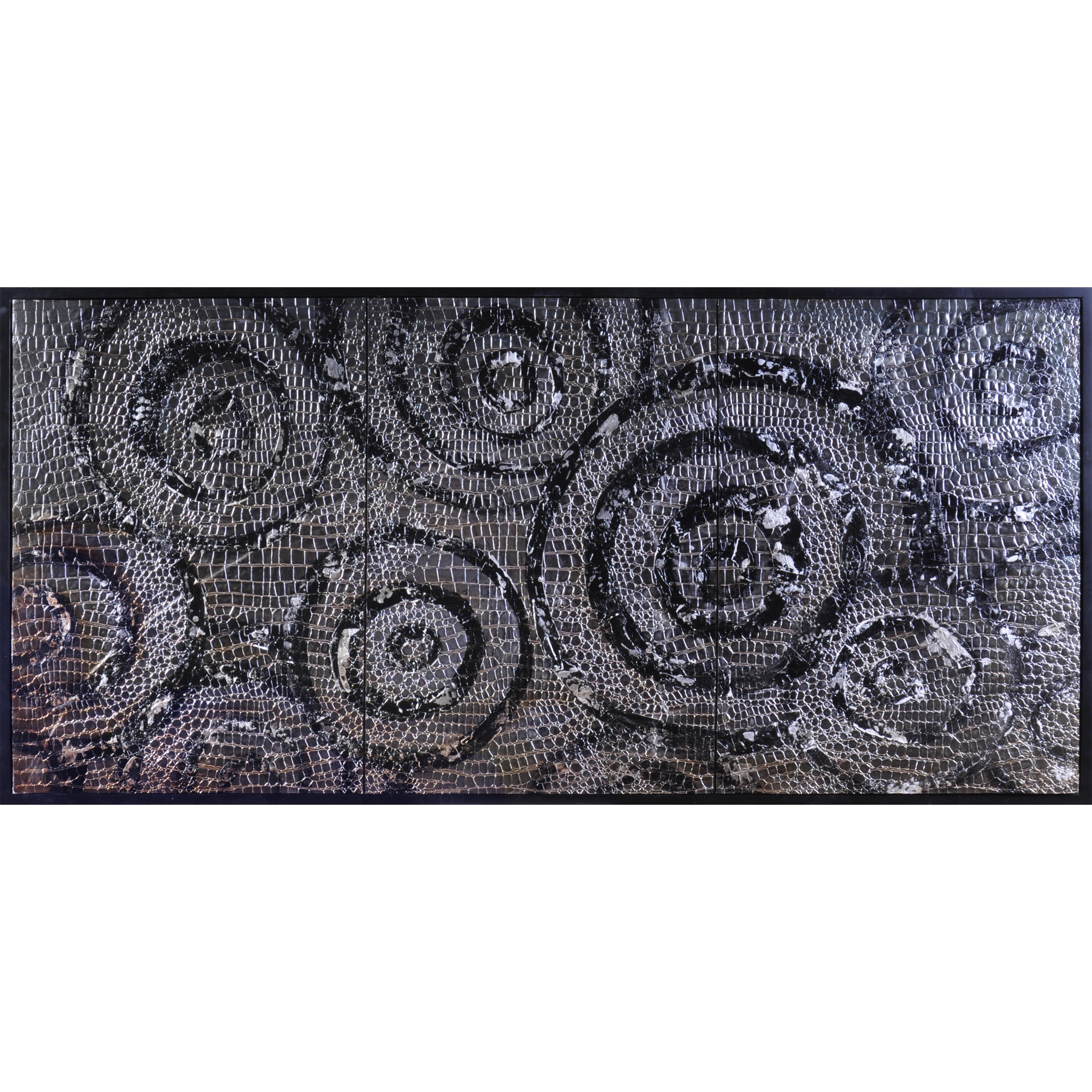 Thoroughly Modern Swirls In Silver by Bassett Mirror at Alison Craig Home Furnishings
