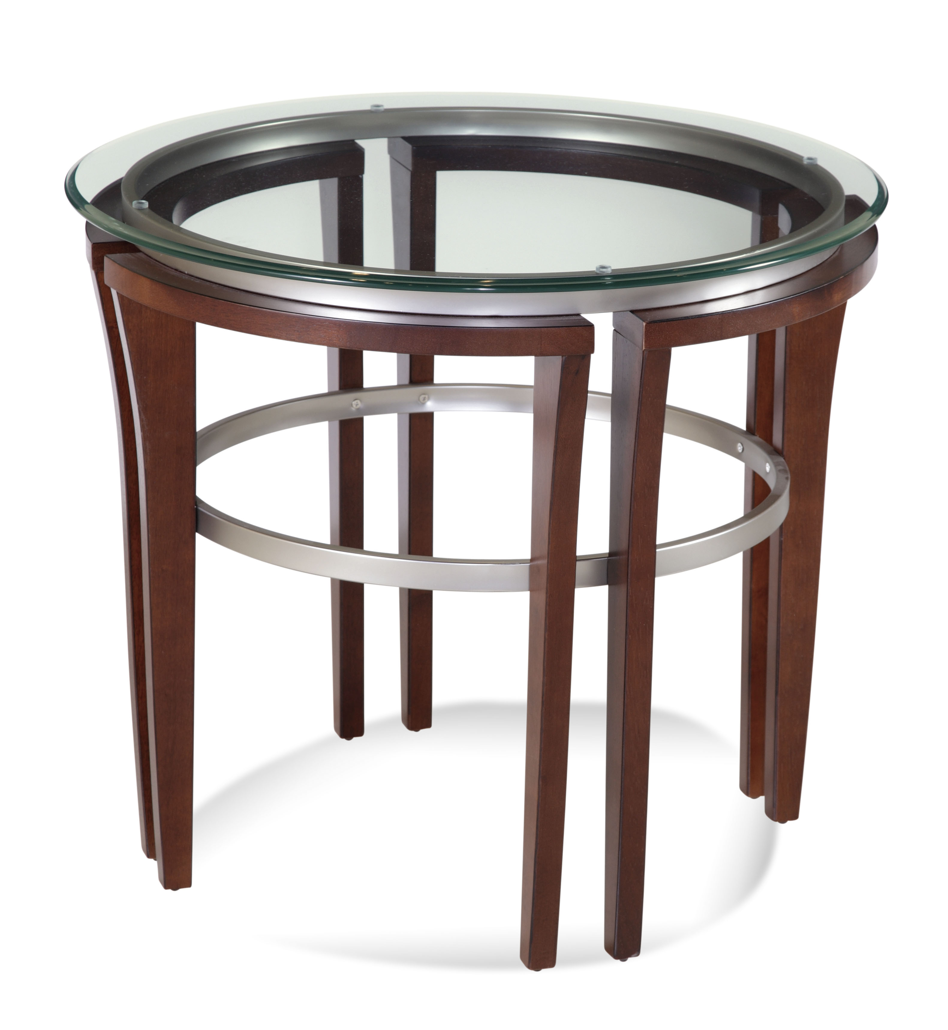 Thoroughly Modern Fusion Round End Table by Bassett Mirror at Story & Lee Furniture