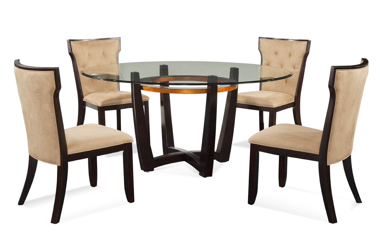 Thoroughly Modern Elation Casual 5 PC Dining Set by Bassett Mirror at Alison Craig Home Furnishings