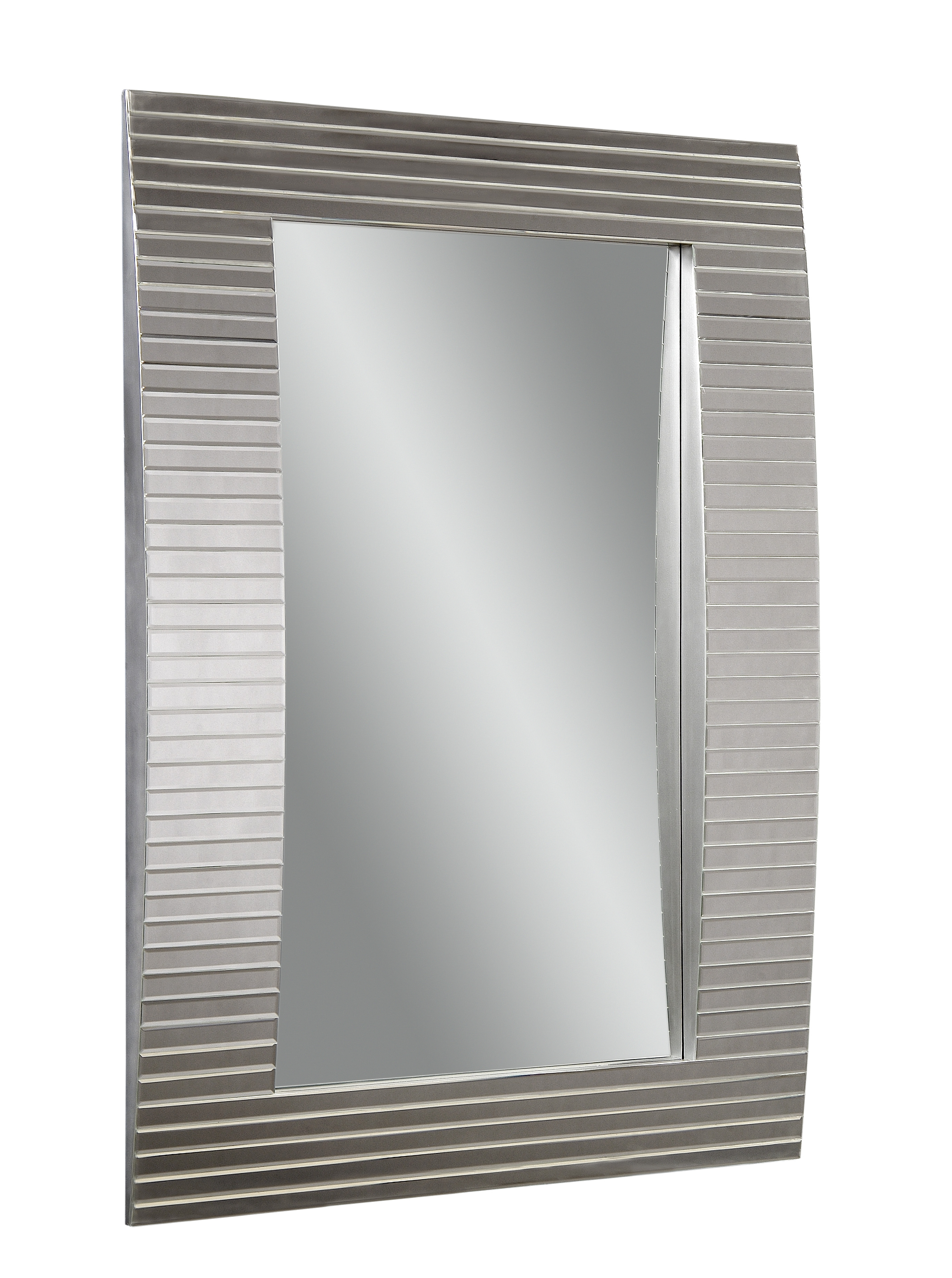 Thoroughly Modern Tambour Wall Mirror by Bassett Mirror at Alison Craig Home Furnishings