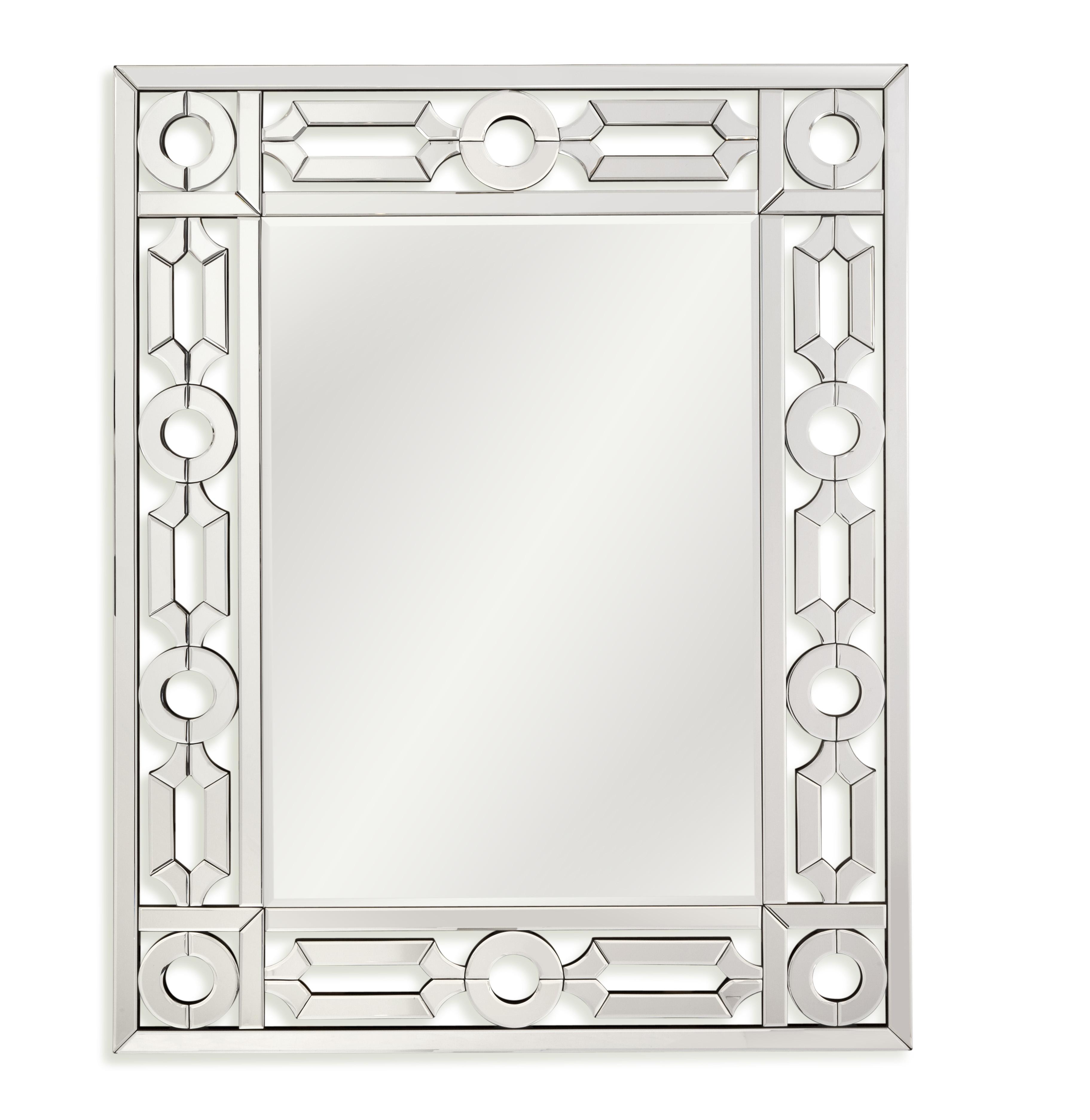 Thoroughly Modern Pilar Wall Mirror by Bassett Mirror at Alison Craig Home Furnishings