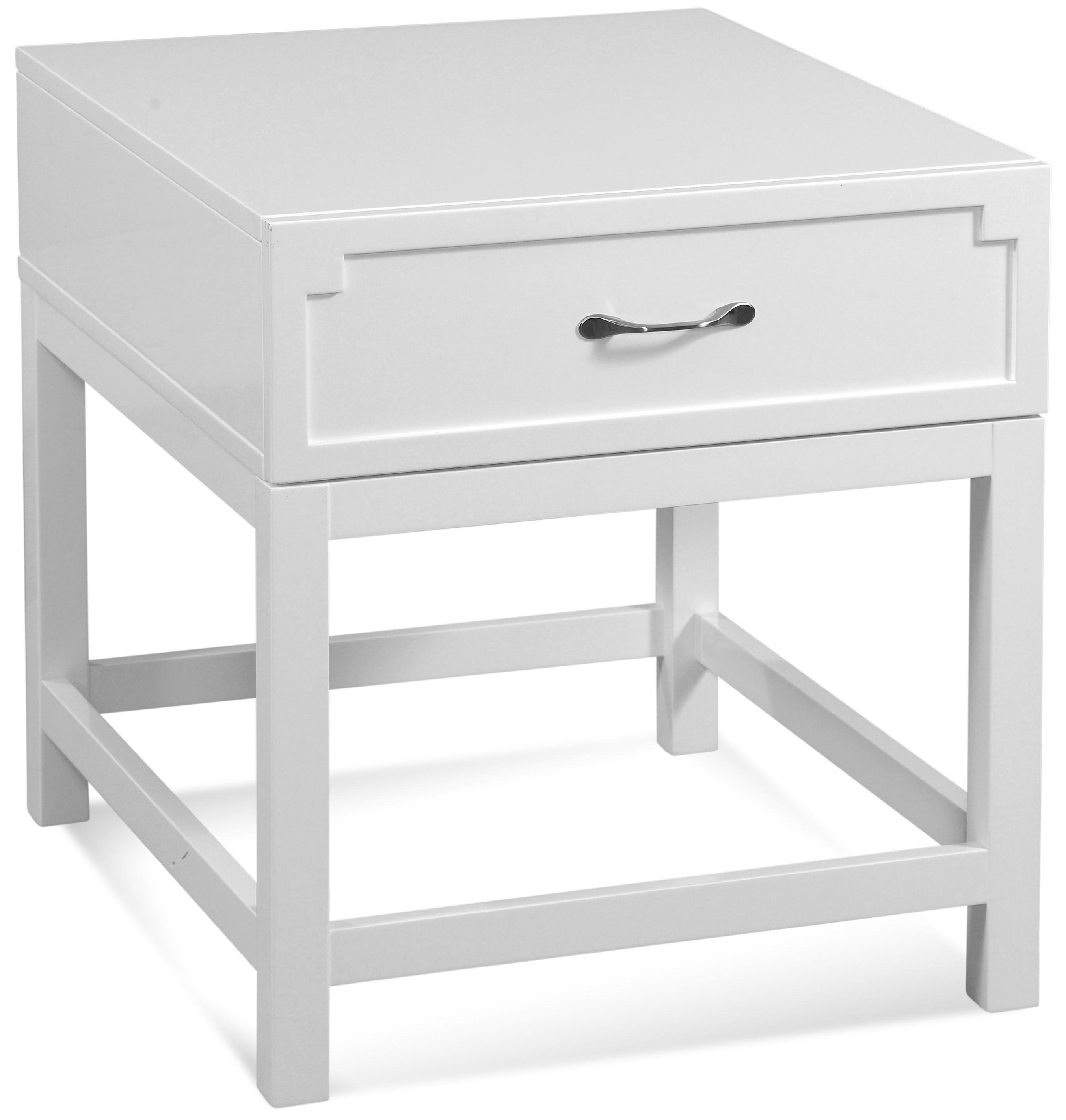 Zoe Rectangular End Table by Bassett Mirror at Lapeer Furniture & Mattress Center