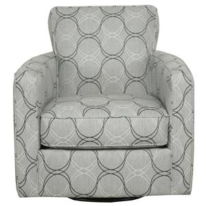 Contemporary Track Arm Swivel Chair