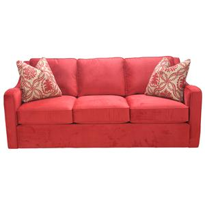 Casual Three Seat Sofa with Plush and Comfortable Cushions