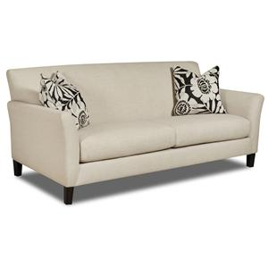 Contemporary Flared Track Arm Sofa with Exposed Tapered Feet