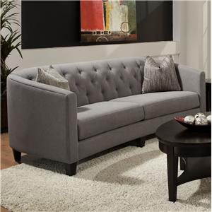 Bauhaus Connick Contemporary Sofa with 2 Pillows