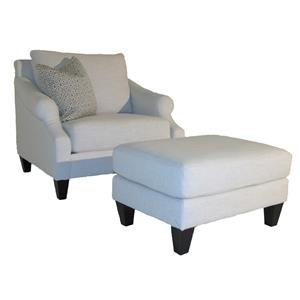 Bauhaus K03A Traditional Chair and Ottoman Set