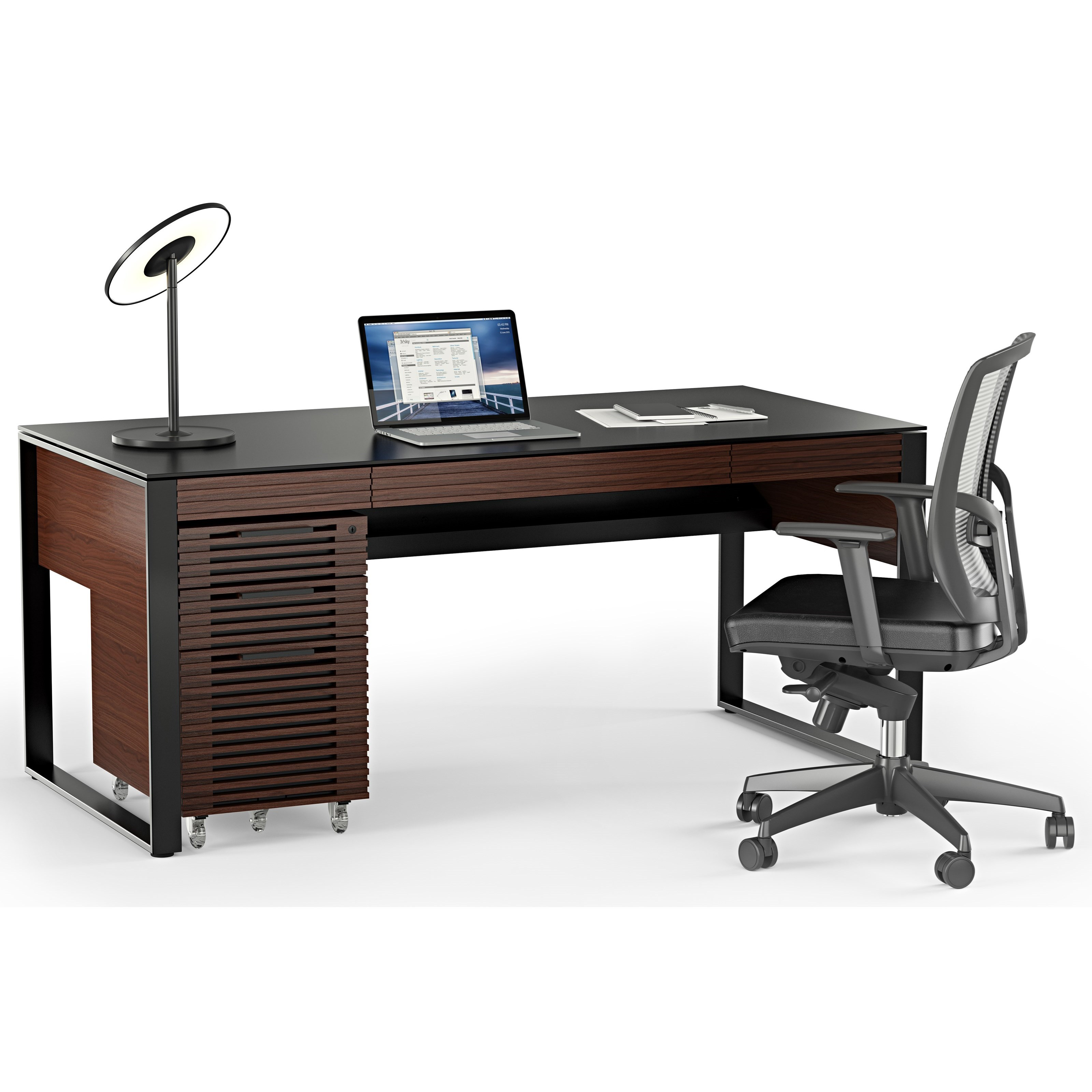 Corridor Desk with File Cabinet by BDI at Upper Room Home Furnishings
