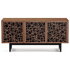 Triple Console with Laser Cut Door Fronts