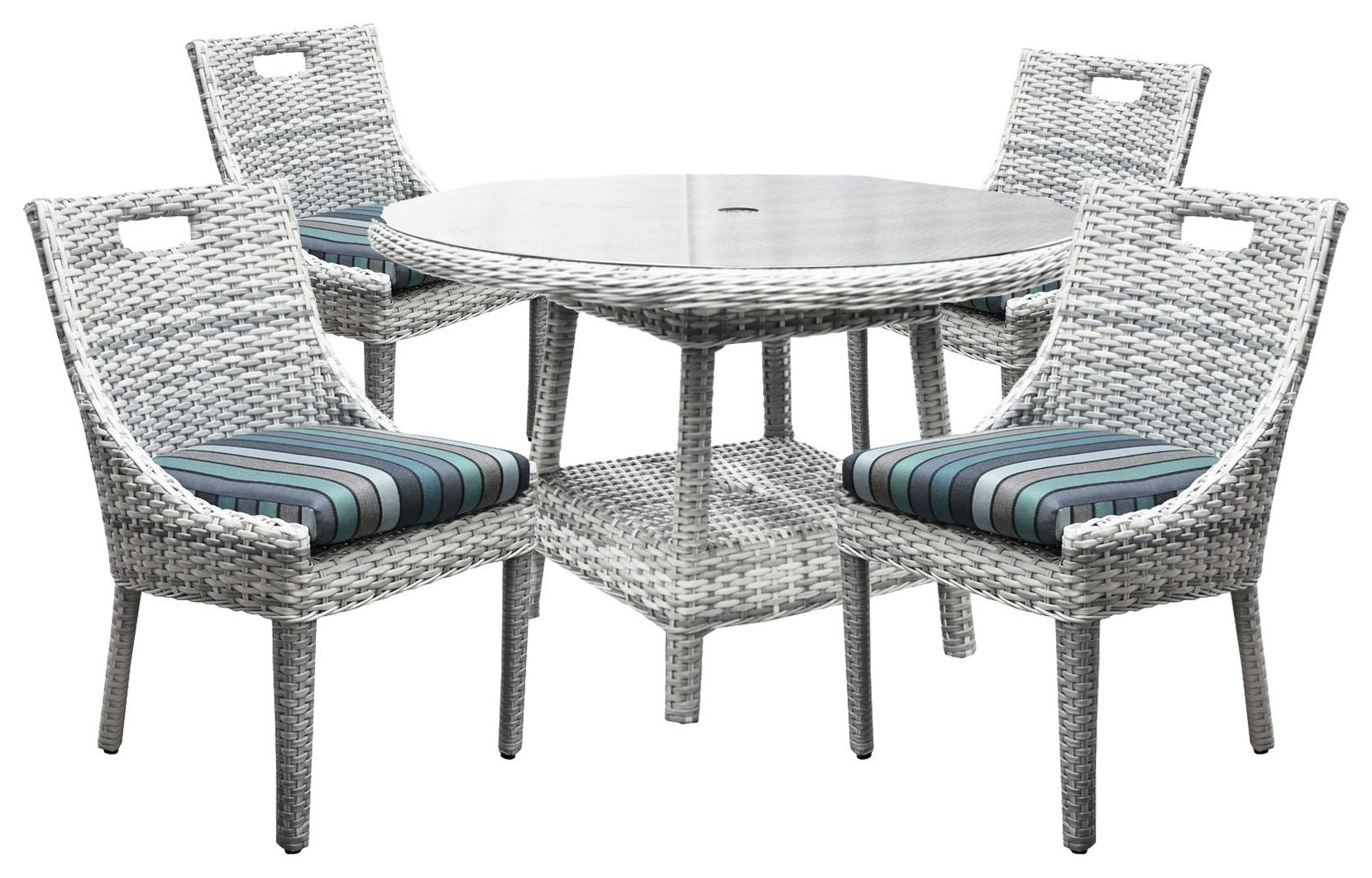 South Beach Dining Table and 4 Side Chairs by BeachCraft at Johnny Janosik
