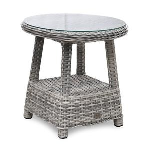 Outdoor End Table w/ Glass Top