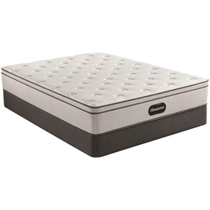 "Twin 12"" Plush Euro Top Pocketed Coil Mattress and 9"" Steel Foundation"