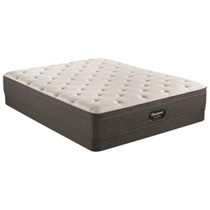 "Queen 13"" Plush Euro Top Pocketed Coil Mattress and 6"" Low Profile Steel Foundation"