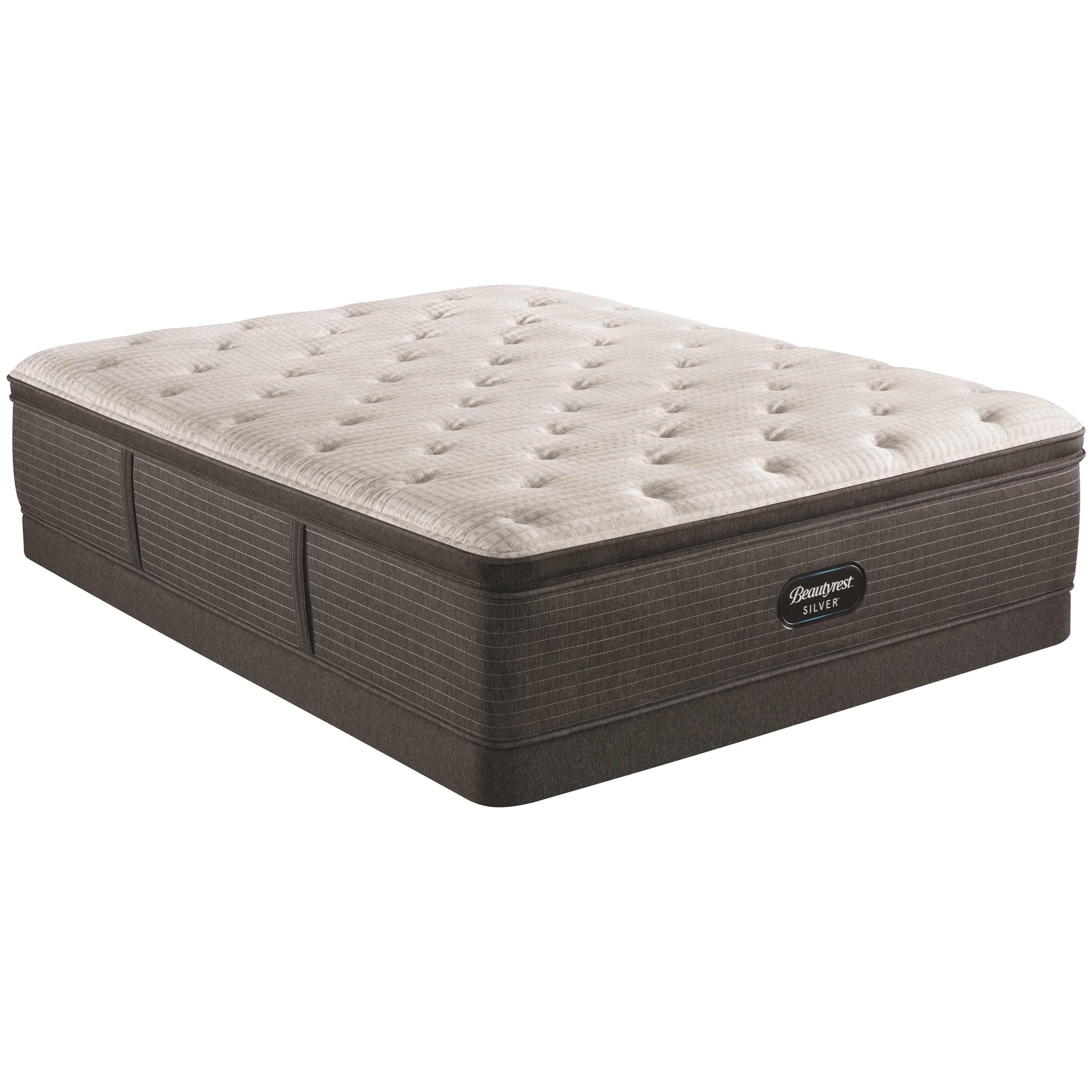 """BRS900-C Medium PT Cal King 16"""" Pocketed Coil LP Set by Beautyrest at Powell's Furniture and Mattress"""