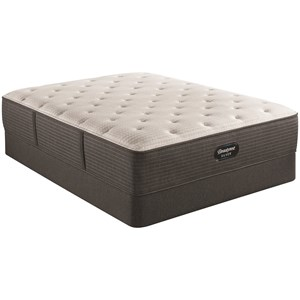 "Queen 14 1/2"" Medium Pocketed Coil Mattress and 9"" Steel Foundation"