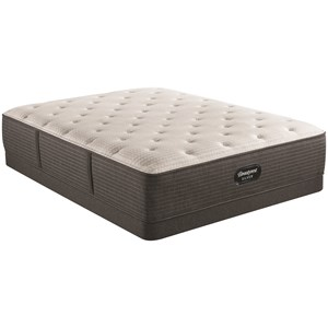 "Queen 14 1/2"" Medium Pocketed Coil Mattress and 6"" Low Profile Steel Foundation"