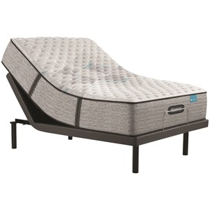 """Queen 13 1/2"""" Extra Firm Pocketed Coil Mattress and Advanced Motion Adjustable Base"""