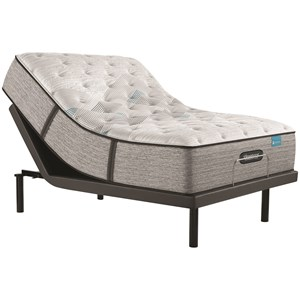 """Queen 13 3/4"""" Plush Pocketed Coil Mattress and Advanced Motion Adjustable Base"""