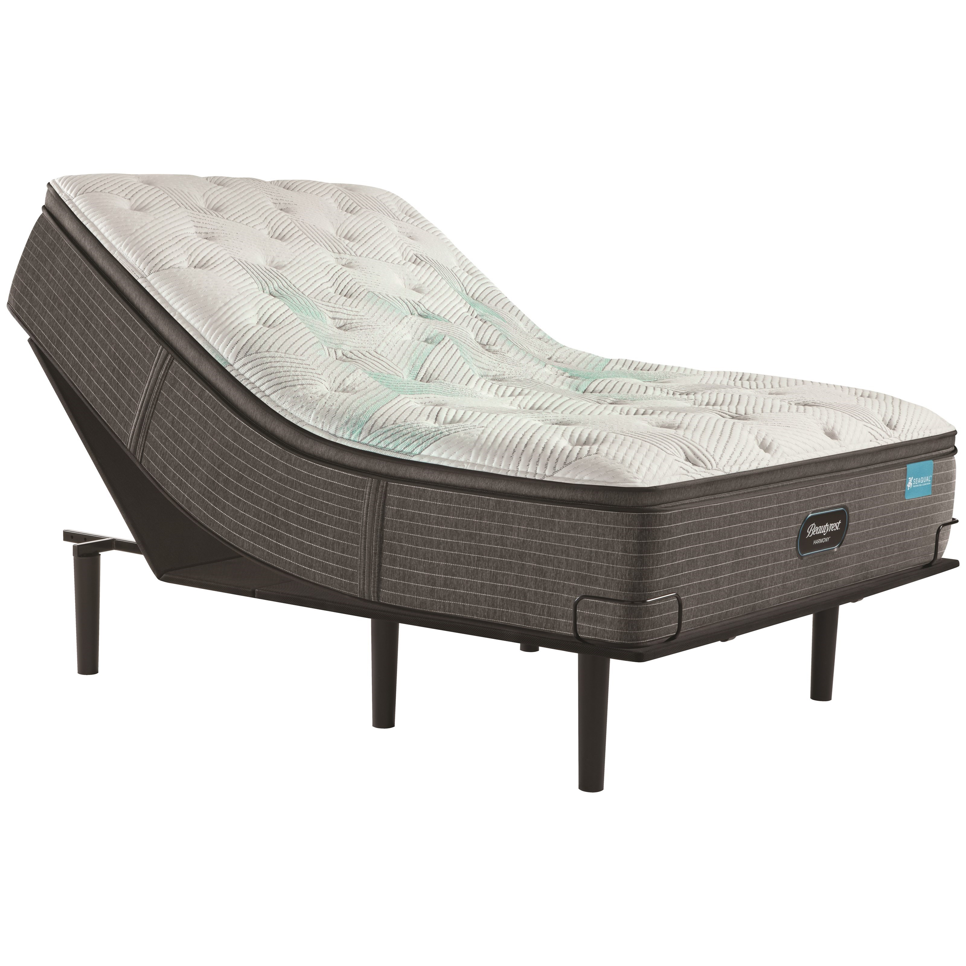 "Cayman Series Medium PT Cal King 15 1/2"" Medium Pillow Top Adj Set by Beautyrest at Becker Furniture"