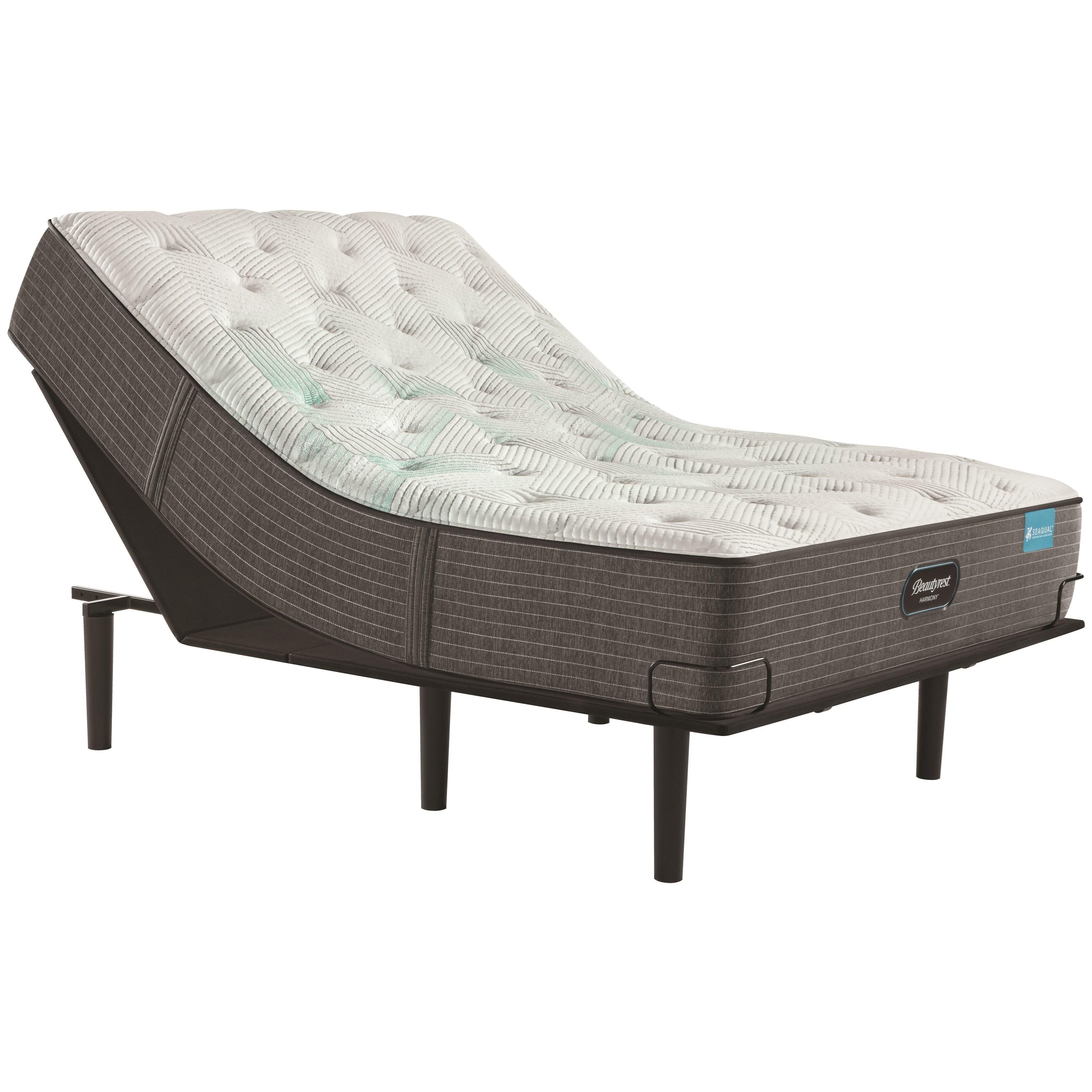 """Cayman Series Medium TT Twin XL 13 1/2"""" Medium Adjustable Set by Beautyrest at Becker Furniture"""