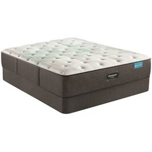 "Harmony Hadley Series Full 13 1/2"" Plush Mattress Set by Beautyrest at Rotmans"