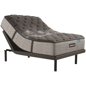 "Queen 14 3/4"" Medium Firm Premium Pocketed Coil Mattress and Advanced Motion Adjustable Base"