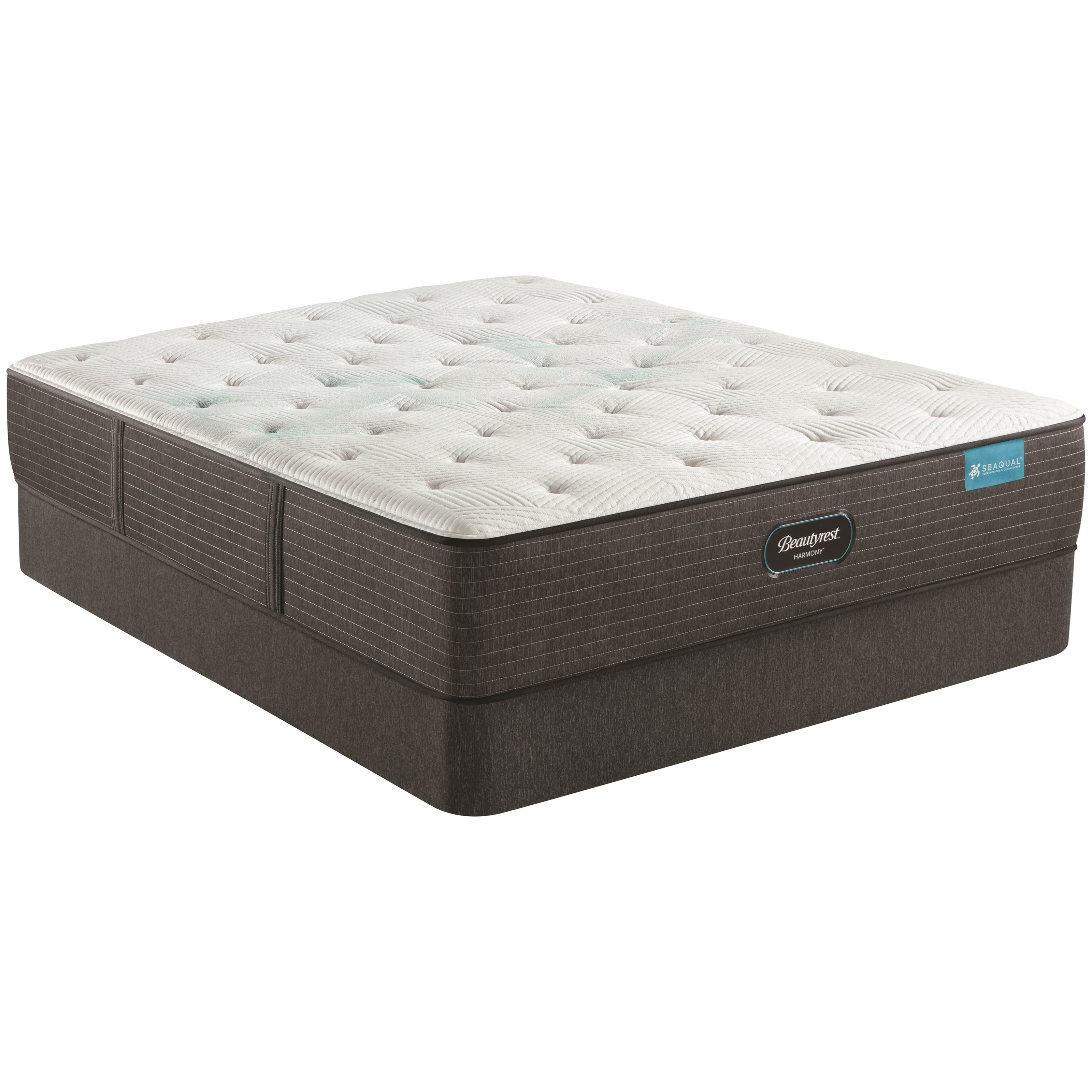"Maui Series Med Firm King 12 1/2"" Medium Firm Mattress Set by Beautyrest at Darvin Furniture"