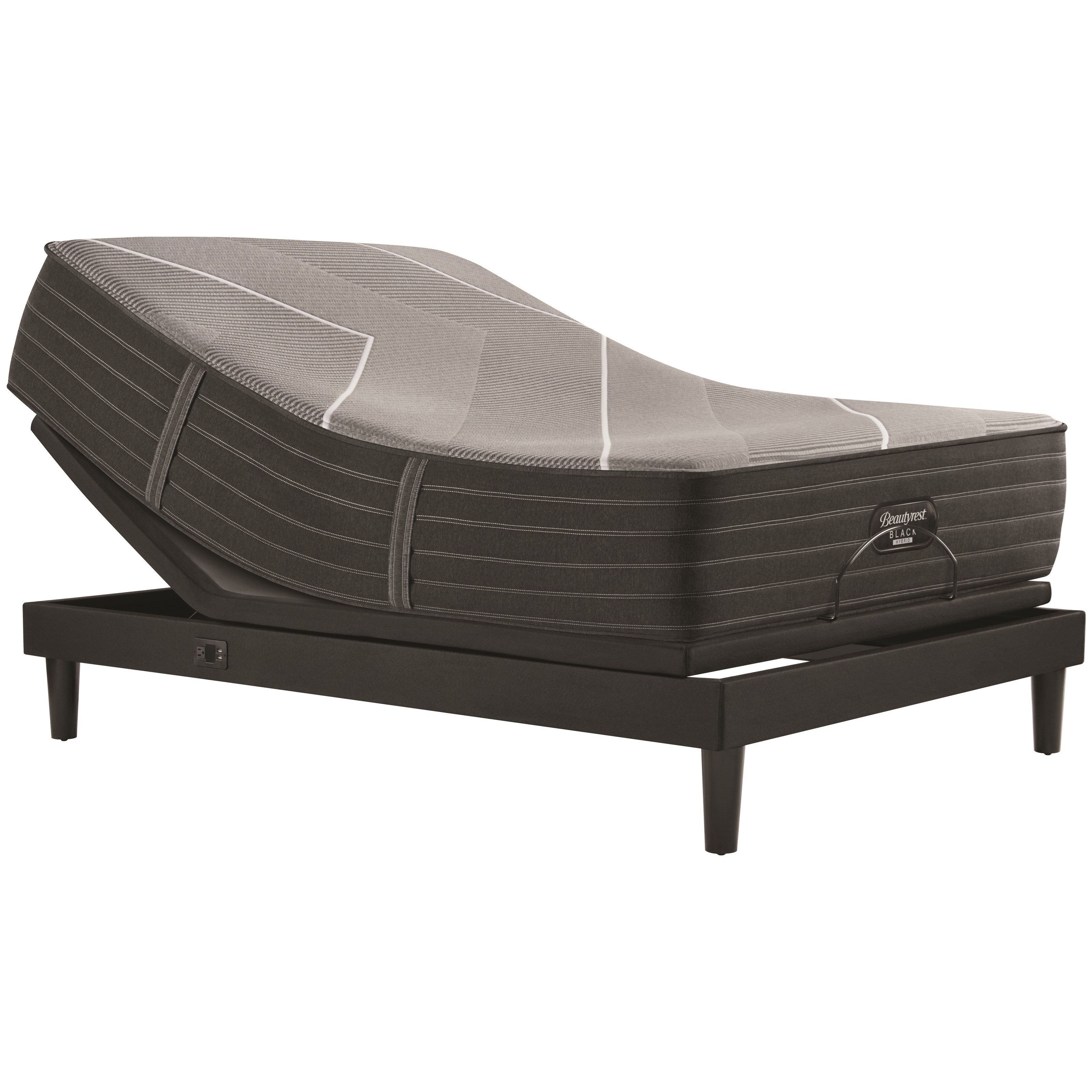 "X-Class Hybrid Firm Cal King 14 1/2"" Firm Hybrid Adj Set by Beautyrest at Walker's Mattress"