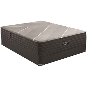 "Queen 14 1/2"" Firm Hybrid Luxury Mattress and 9"" BR Black Foundation"