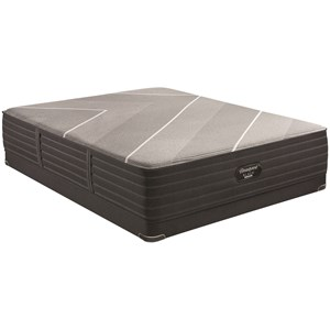 "King 14 1/2"" Firm Hybrid Luxury Mattress and 5"" Low Profile BR Black Foundation"