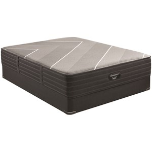 "Queen 13 1/2"" Plush Hybrid Luxury Mattress and 9"" BR Black Foundation"