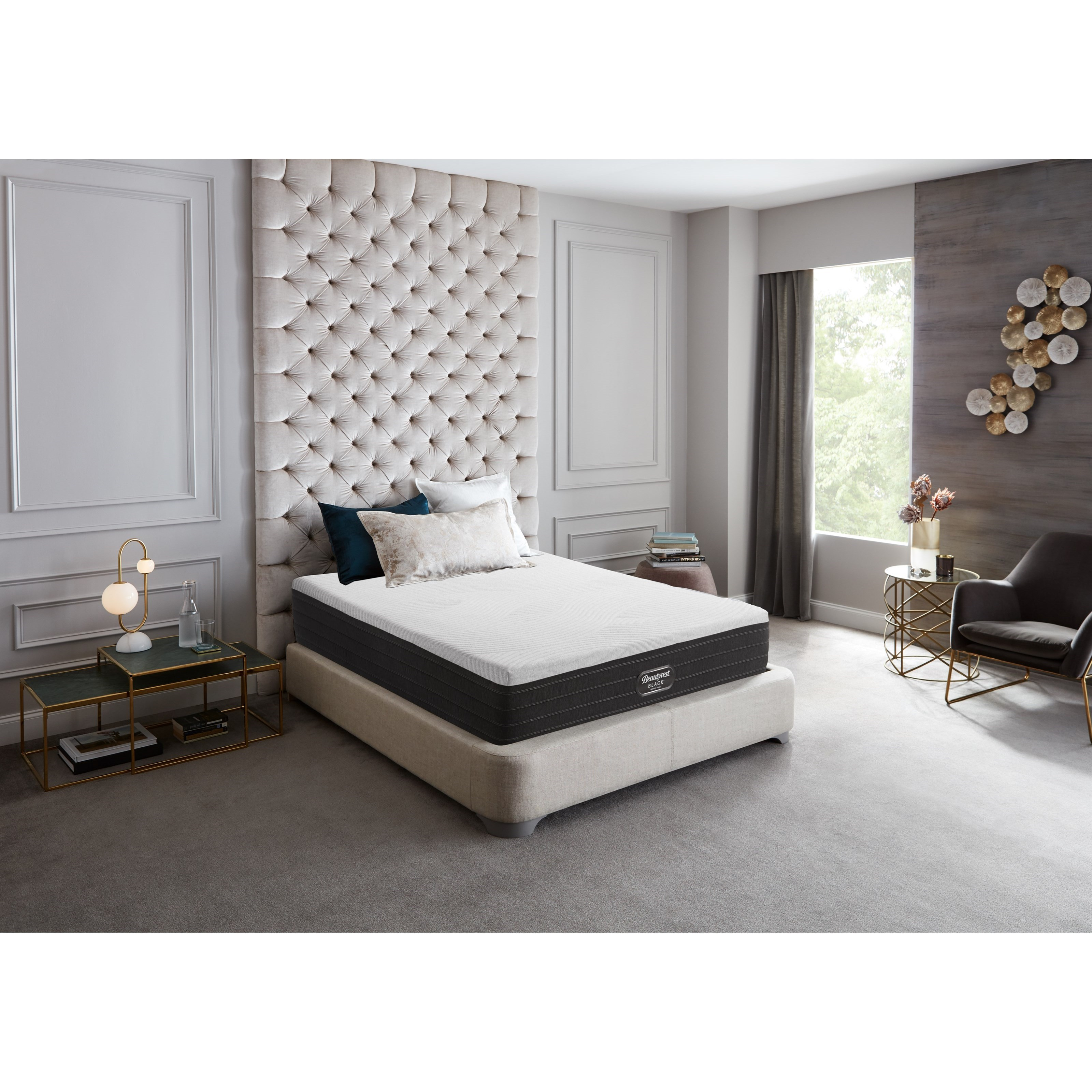 """Grand Firm Queen 11"""" Firm Low Profile Set by Beautyrest Canada at Bennett's Furniture and Mattresses"""