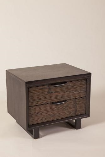Loft 2 Drawer Nightstand by C.S. Wo & Sons at C. S. Wo & Sons Hawaii