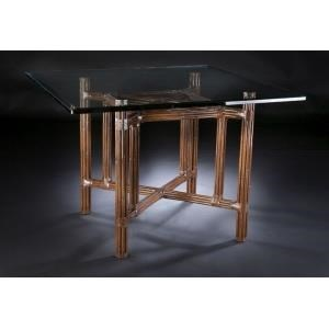 "Sumatra III Sable 48"" Dining Table by C.S. Wo & Sons at C. S. Wo & Sons Hawaii"