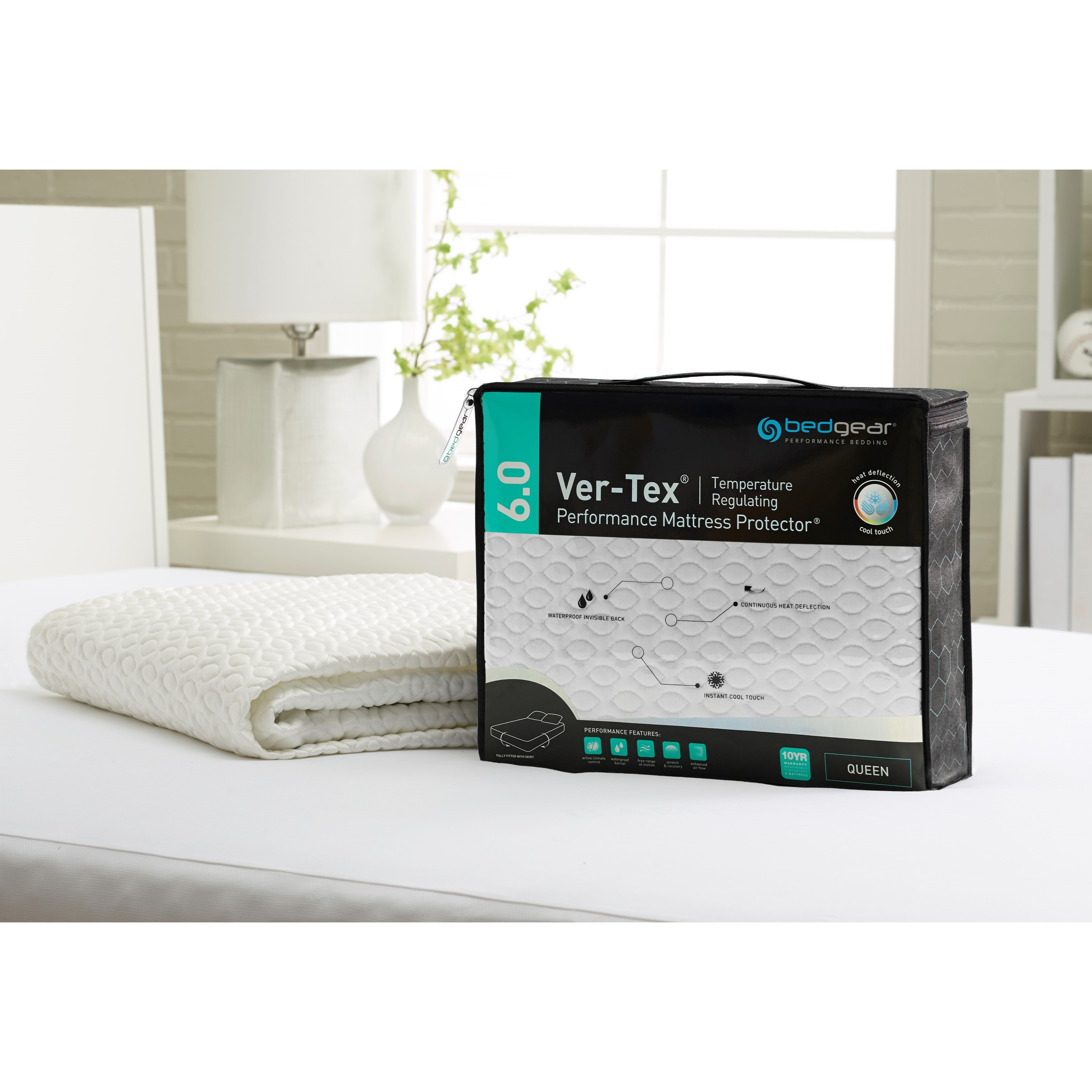 Ver-Tex® Cal King  6.0 Ver-Tex® Mattress Protector by Bedgear at Darvin Furniture