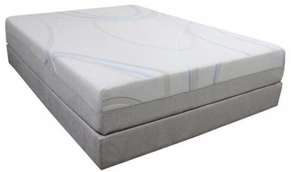 "Gel-Max Memory Foam Cal King 12"" Memory Foam Mattress by BedTech at Home Furnishings Direct"