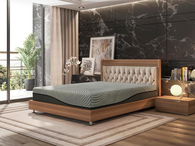 "Gel-Max Memory Foam Cal King 12"" Memory Foam Mattress by BedTech at Dream Home Interiors"