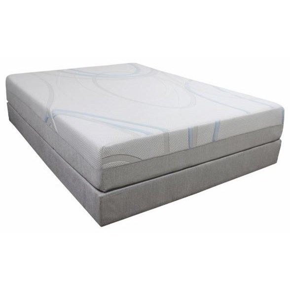 "Gel-Max Memory Foam King 14"" Memory Foam Mattress Adj. Set by BedTech at Dream Home Interiors"