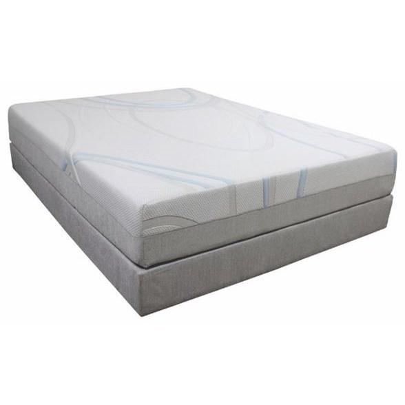 "Gel-Max Memory Foam Cal King 8"" Memory Foam Mattress Adj. Set by BedTech at Home Furnishings Direct"