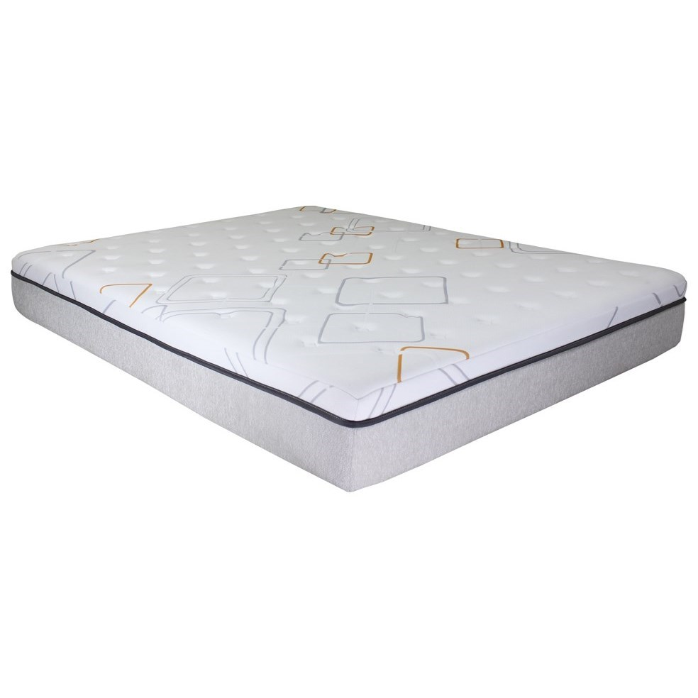 """iRetreat Hybrid Queen 10"""" Hybrid Mattress Adjustable Set by BedTech at Home Furnishings Direct"""