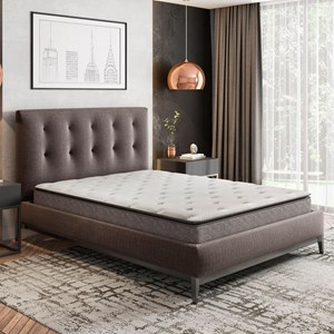 Full Hybrid Pillow Top Mattress and Adjustable Foundation
