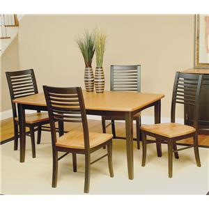 Beechbrook 2130 5-Piece Rectangular Leg Table & Chair Set