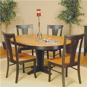 Beechbrook 2130 5-Piece Round Pedestal Table & Chair Set