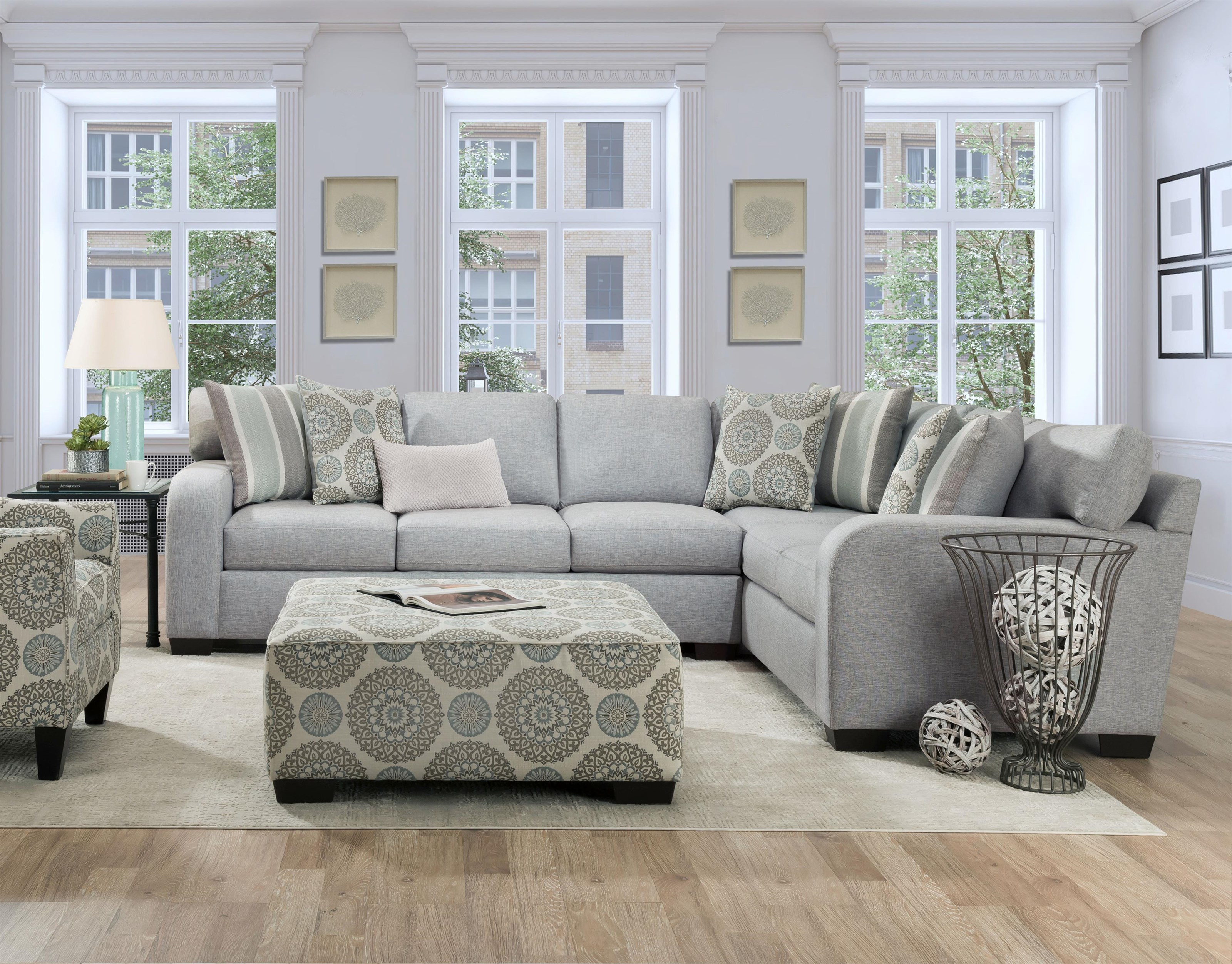 1049 SPA Two Piece Contemporary Sectional by Behold Home at Furniture Fair - North Carolina