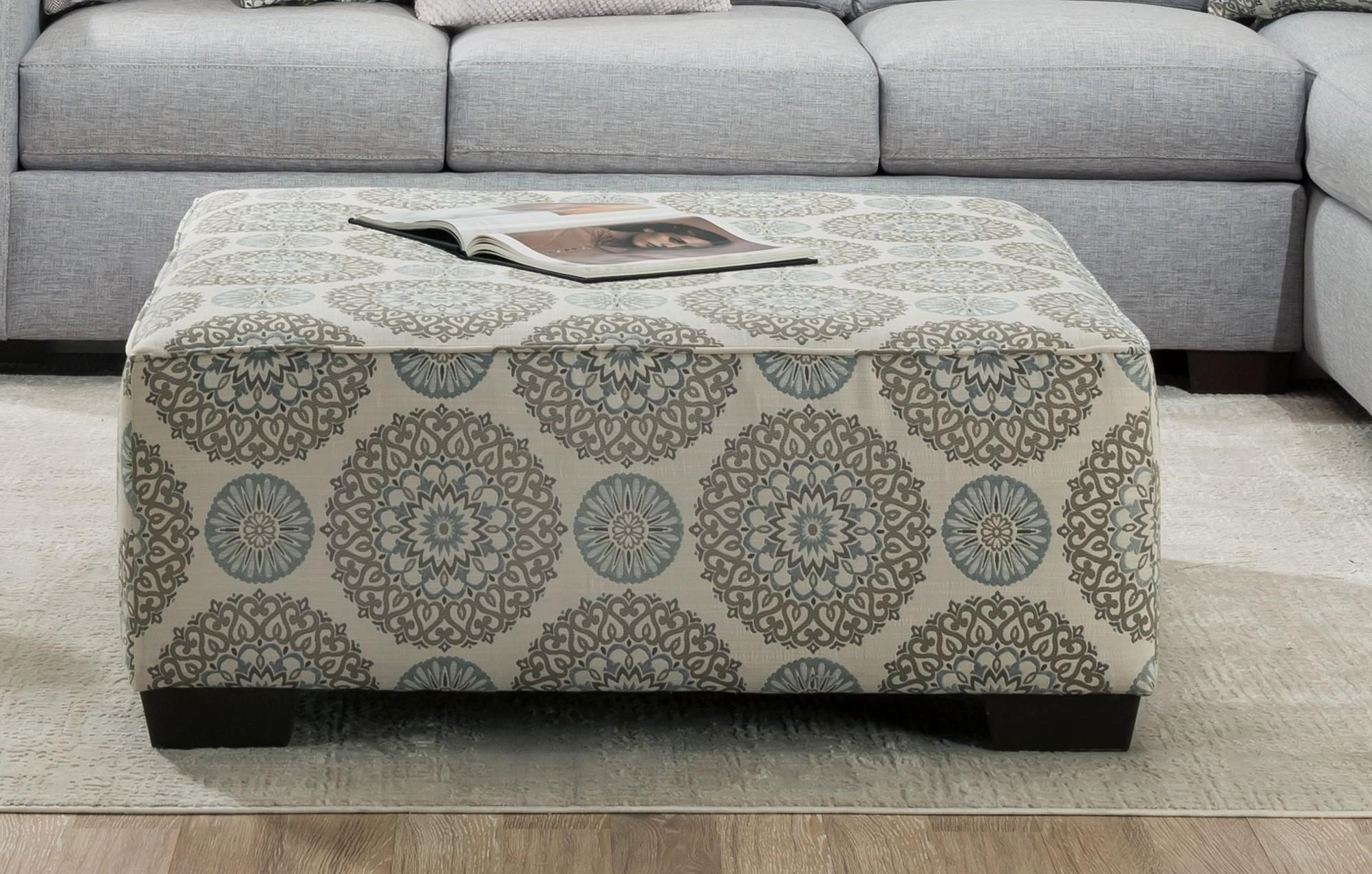 1049 SPA Swirl Cocktail Ottoman by Behold Home at Furniture Fair - North Carolina