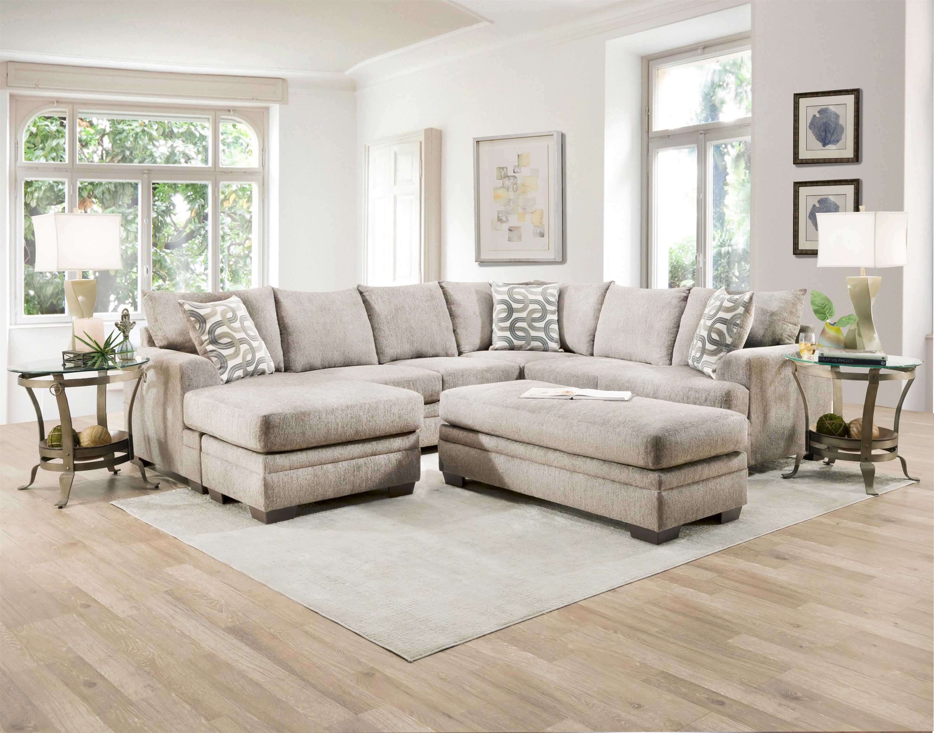 1310 CREAM TWO PIECE SECTIONAL by Behold Home at Furniture Fair - North Carolina