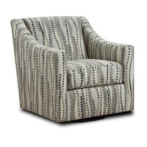 Charcoal Swivel Accent Chair