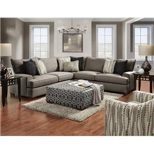 Three-Piece Cement Sectional Sofa